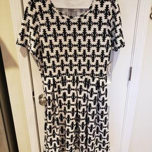 LuLaRoe Amelia Aztec Print Dress 2xl nwt